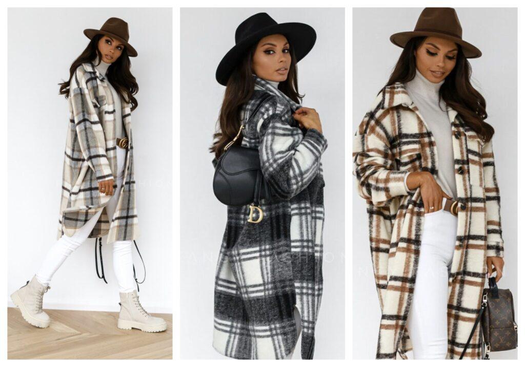 Dolga jakna s karo vzorcem je brez dvoma modni hit letošnje jeseni.